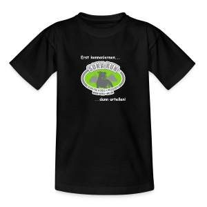 Kinder T-Shirt, Logo mit Text - Kinder T-Shirt
