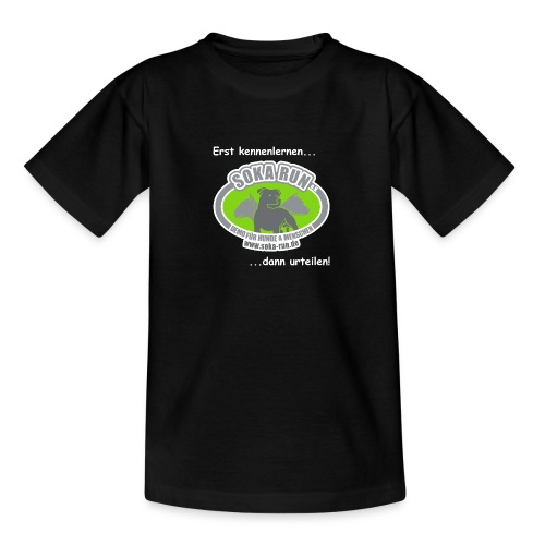 Kinder T-Shirt, Logo mit Text - Kinder T-Shirt