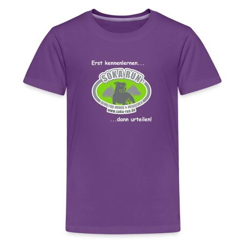 Teenager T-Shirt, Logo mit Text - Teenager Premium T-Shirt