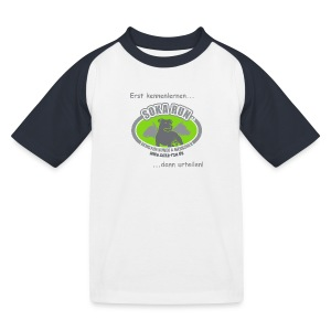 Kinder T-Shirt, Logo mit Text - Kinder Baseball T-Shirt