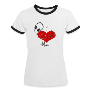 I Love Music - Women Shirt - Women's Ringer T-Shirt