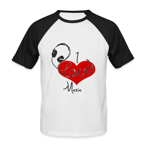 I Love Music - Men Shirt - Men's Baseball T-Shirt