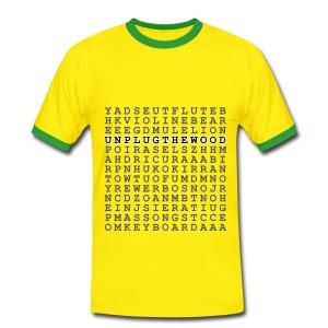 Wordsearch 2 UnplugTheWood - Men's Ringer Shirt