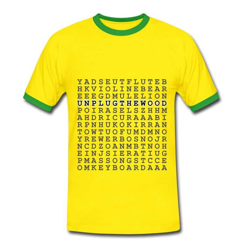 Wordsearch 2 UnplugTheWood - Men's Ringer Shirt