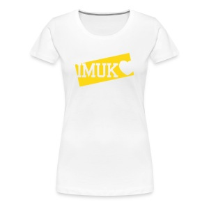 i love IMUK - ladies (yellow) - Frauen Premium T-Shirt