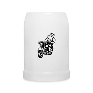 Chope Motard - Chope en céramique