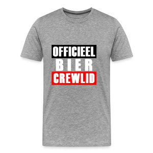 Officieel Bier Crewlid T Shirt - Men's Premium T-Shirt