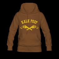 Pullover & Hoodies ~ Frauen Premium Kapuzenpullover ~ gelber Flockdruck Western
