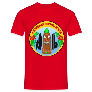 Polynesian surfing power  - Men's T-Shirt