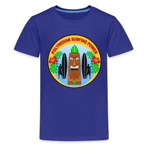 Polynesian surfing power  - Teenage Premium T-Shirt