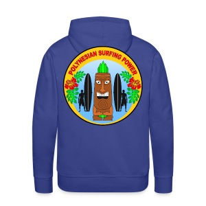 Polynesian surfing power  - Men's Premium Hoodie