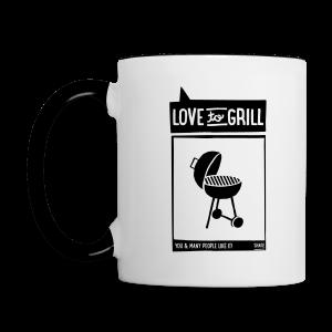 love to grill - becher - Tasse zweifarbig