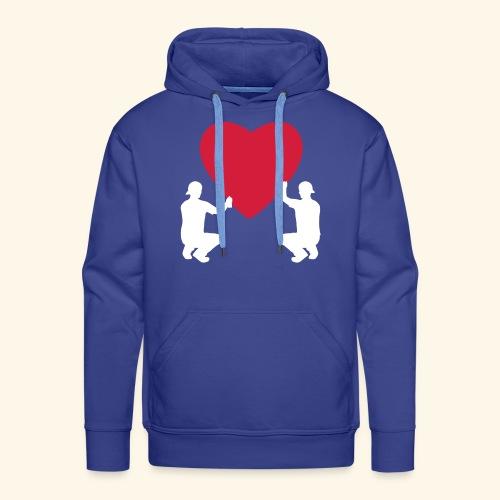 grafffiti love - Sweat-shirt à capuche Premium pour hommes