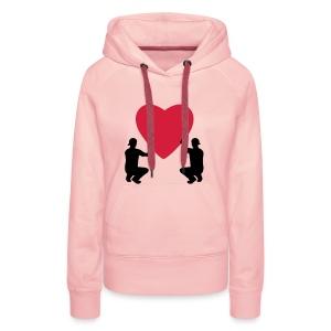 grafffiti love - Sweat-shirt à capuche Premium pour femmes