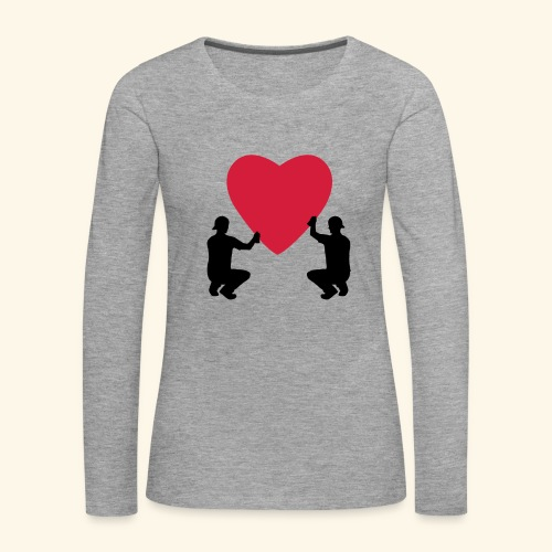 grafffiti love - T-shirt manches longues Premium Femme