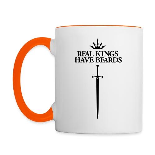 Real Kings Have Beards - Multi-color Coffee Mug - Mok tweekleurig