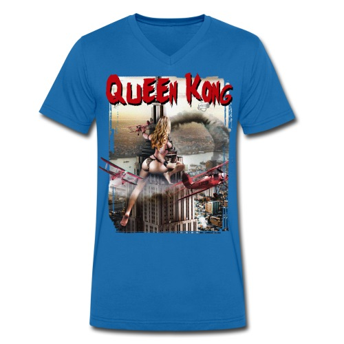 Rebelicious 6 Queen Kong V-hals - Mannen bio T-shirt met V-hals van Stanley & Stella