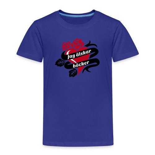 JAG ÄLSKAR BÖCKER! - Premium-T-shirt barn