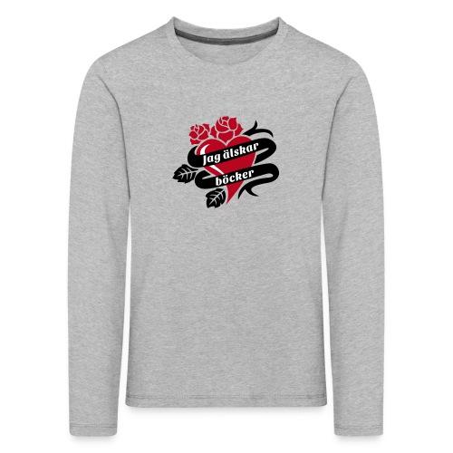 JAG ÄLSKAR BÖCKER! - Långärmad premium-T-shirt barn