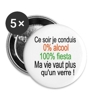 Badge Ce soir je conduis - Badge petit 25 mm