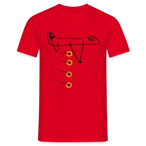 Flower bomb - Mannen T-shirt
