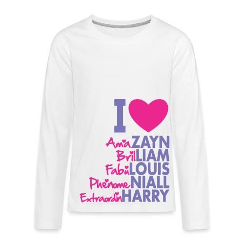 Teens Premium Long Sleeve One Direction - Teenagers' Premium Longsleeve Shirt