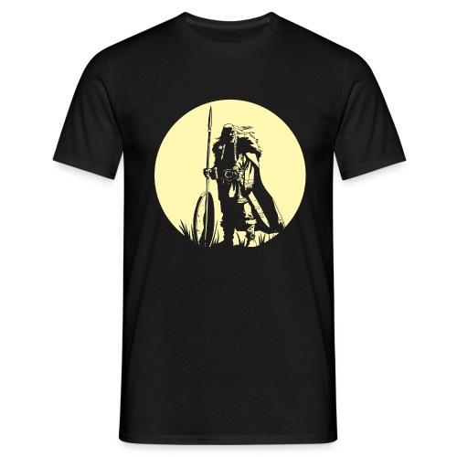 Krieger mit Speer-T-Shirt - Männer T-Shirt