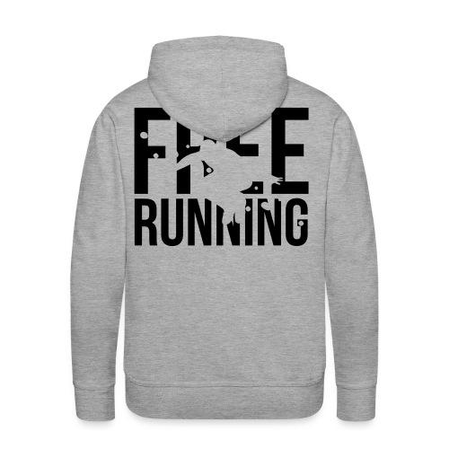 free running - Mannen Premium hoodie