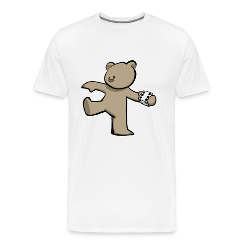 Bear T-Shirt (White) - Men's Premium T-Shirt
