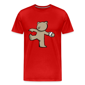 Bear T-Shirt (Coloured) w/ customisable Name on Rear - Men's Premium T-Shirt