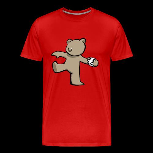 Bear T-Shirt (Coloured) w/ customisable Name on Rear - Men's Premium T-Shirt
