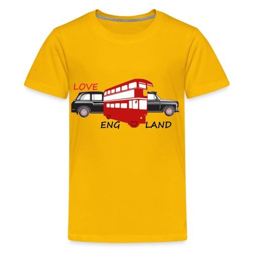 TS JAUNE ADO CAR ANGLAIS - T-shirt Premium Ado