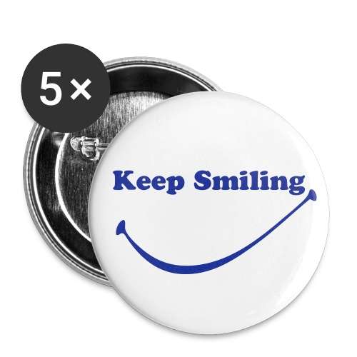 keep smiling badges - Buttons medium 32 mm