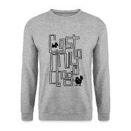 Hoodies & Sweatshirts ~ Men's Sweatshirt ~ Men's Maze Sweater (Black Print)