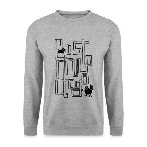 Men's Maze Sweater (Black Print) - Men's Sweatshirt