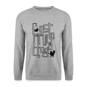 Men's Maze Sweater (Black Print) - Men's Sweatshirt