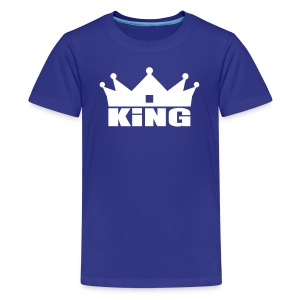King Junior garçon bleu/blanc - T-shirt Premium Ado