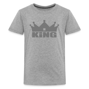 King Junior garçon gris/gris - T-shirt Premium Ado