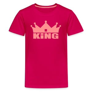 King Junior fille rose/rubis - T-shirt Premium Ado