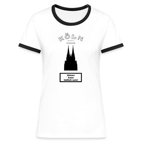 KÖLN UNGEFILTERT - Frauen Kontrast-T-Shirt
