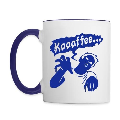 Tasse Kaffee Zombie - Tasse zweifarbig