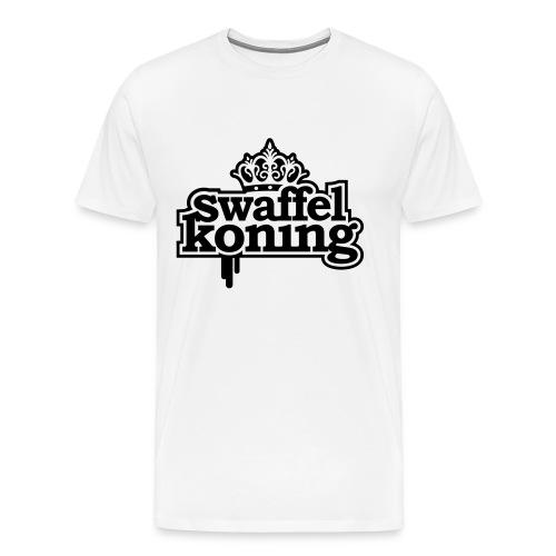 Swaffel Koning T-shirt - Mannen Premium T-shirt