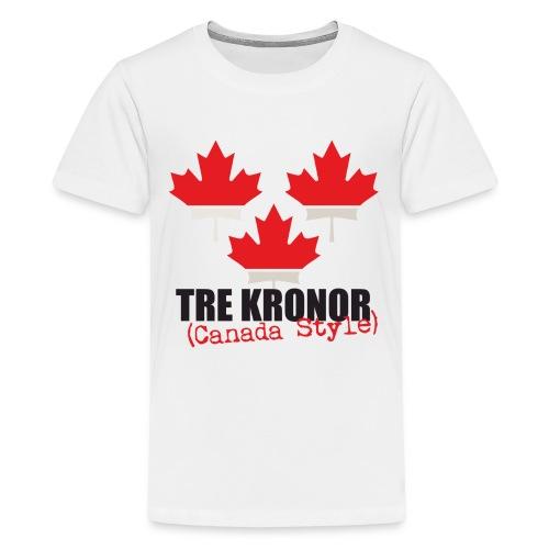 White Teen T-Shirt - Teenage Premium T-Shirt