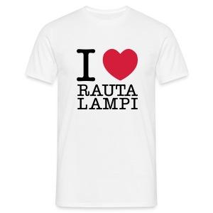 I love Rautalampi T-paita - Miesten t-paita