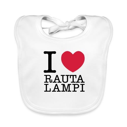 I love Rautalampi - ruokalappu - Vauvan ruokalappu
