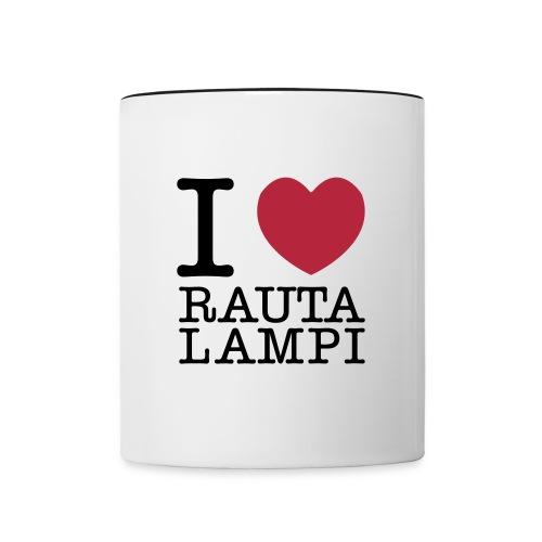 I love Rautalampi - kahvikuppi - Kaksivärinen muki