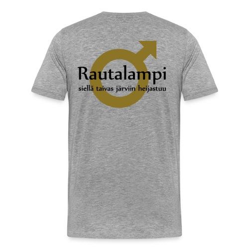 Rautalampi - Siellä taivas järviin heijastuu - Miesten premium t-paita