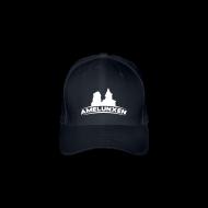 Caps & Mützen ~ Flexfit Baseballkappe ~ Amelunxen Cap (Flock) Schwarz-Weiss