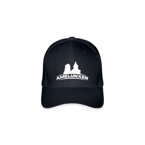 Amelunxen Cap (Flock) Schwarz-Weiss - Flexfit Baseballkappe