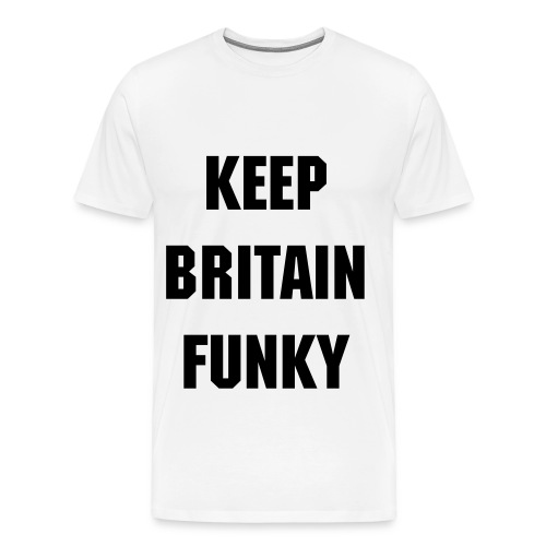 Funky White Mens Tee - Men's Premium T-Shirt